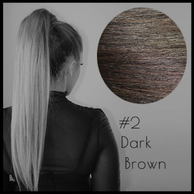 Louvre Malli Dark Brown Ponytail Extensions