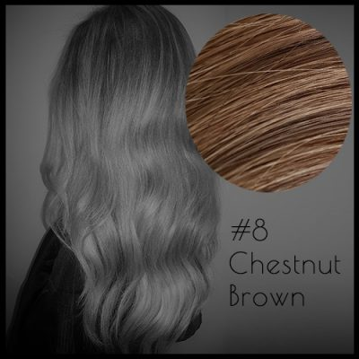 Louvre Malli 20 inch Seamless Clip In Hair Extensions Chestnut Brown