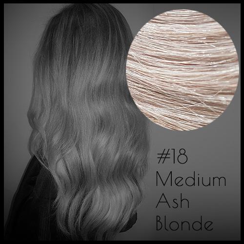 Louvre Malli 20 inch Seamless Clip In Hair Extensions Medium Ash Blonde