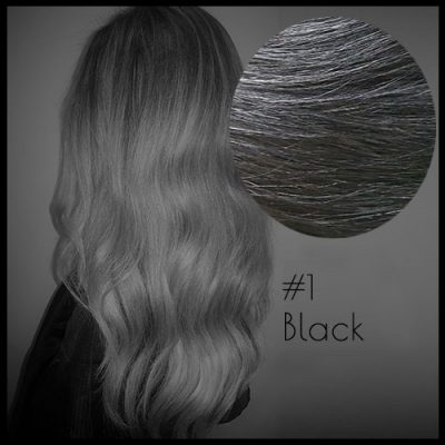 Louvre Malli 22 inch Seamless Clip In Hair Extensions Black