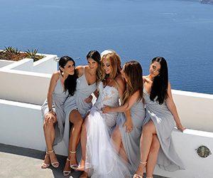 Santorini Wedding Hair and Make Up