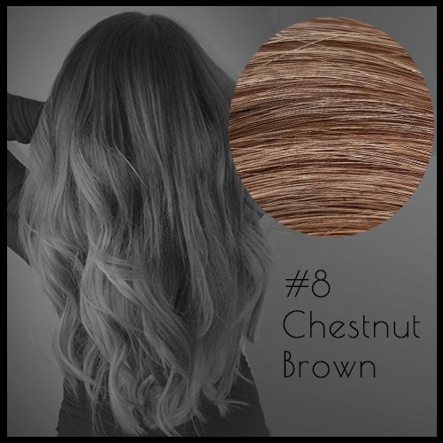 Malli Louvre Skin Weft Hair Extensions 20inch Chestnut Brown