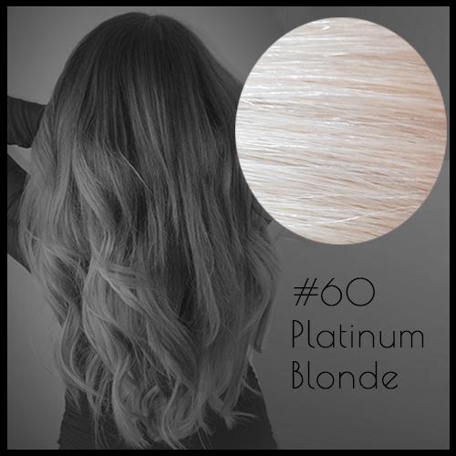 Malli Louvre Skin Weft Hair Extensions 20inch Platinum Blonde