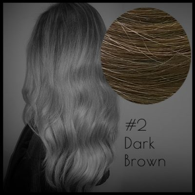 Louvre Malli 20 inch Seamless Clip In Hair Extensions Dark Brown