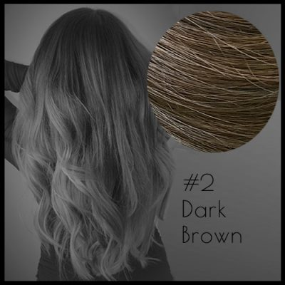 Malli Louvre Skin Weft Hair Extensions 20inch Dark Brown